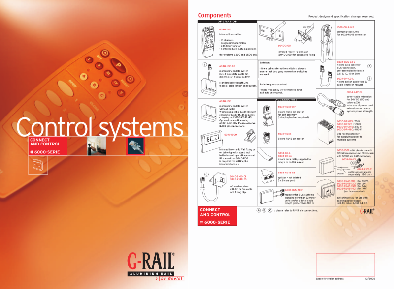 G-Rail connect and control - 6000 series