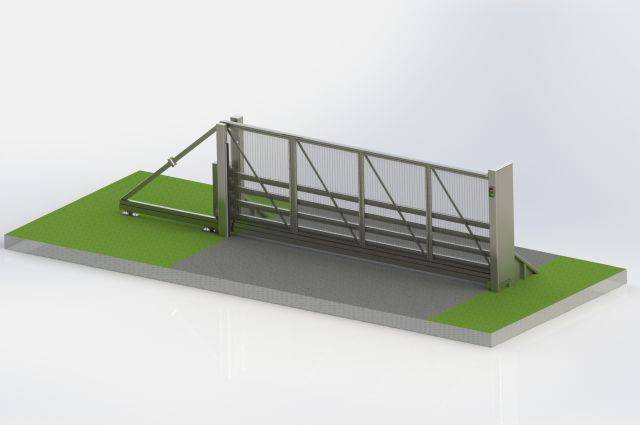 PAS68 Cantilever Sliding Gate