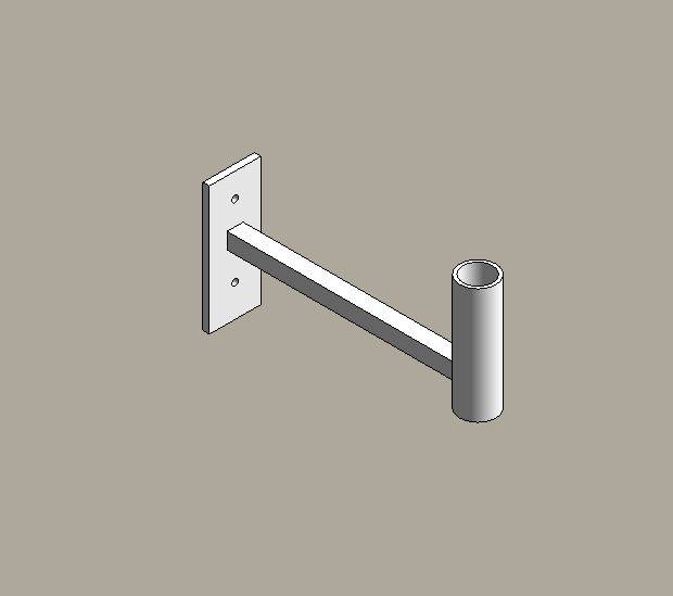Aluminium street lighting brackets - straight arm