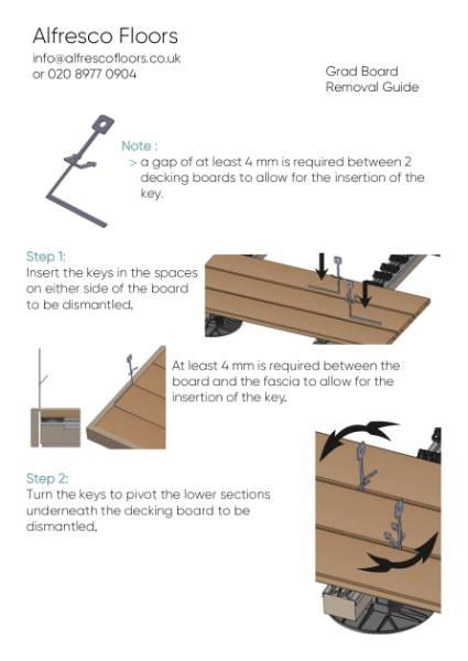 Grad Board Removal Guide