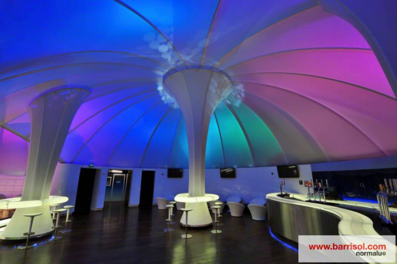 Barrisol Lumière Color® 3D - Lounge of O2 Arena - United Kingdom