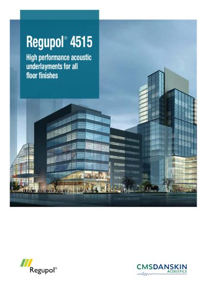 CMS Danskin Acoustics Regupol 4515 Brochure
