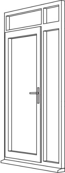 Heritage 2800 Flush Residential Door - R5 Open Out