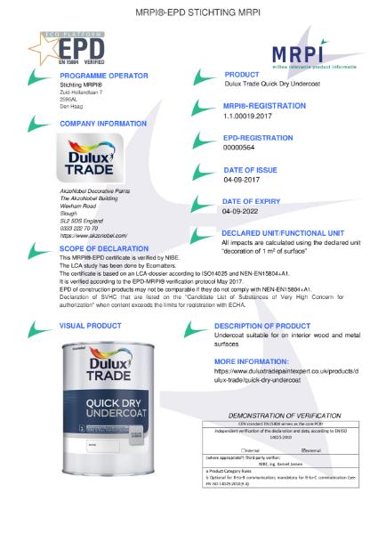 19 MRPI EPD Quick Dry Undercoat DEF