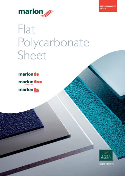 Solid Polycarbonate Sheet Specialist Glazing - Marlon FS