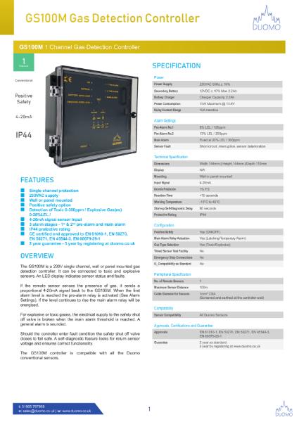 GS100M Datasheet