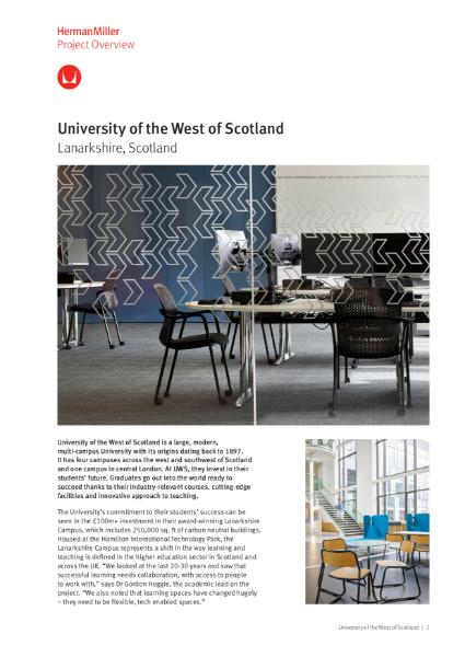 Case Study - University Of West Scotland - Herman Miller