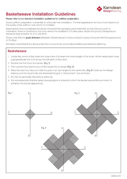 Basketweave Installation Guidelines