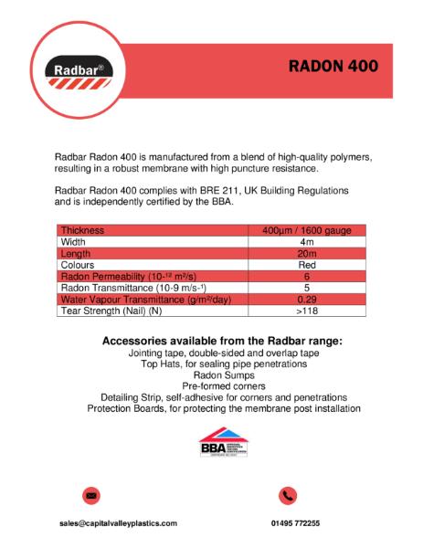 Radbar Radon 400 Membrane