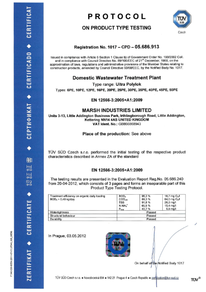 Ultra Polylok Sewage Treatment Plant
