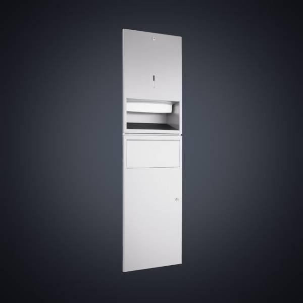 DP4307 Dolphin Prestige Paper Towel Dispenser and Waste Bin Combination Unit