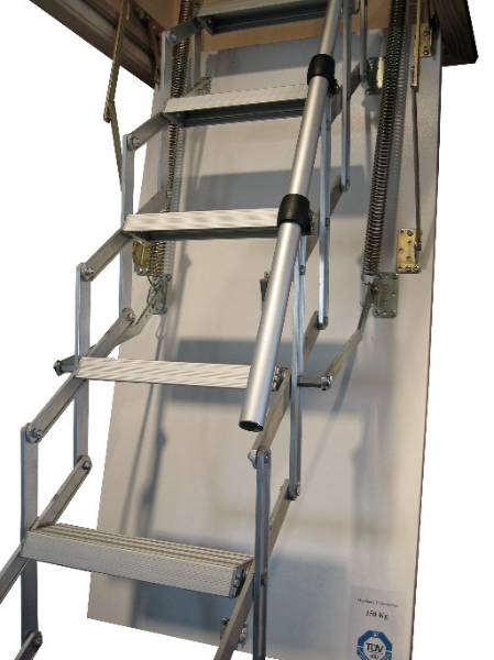 The Mini retractable loft ladder is the ideal solution for small ceiling openings