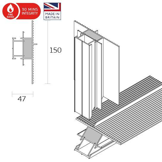 Dacatie D2000 30 Minutes Fire Rated Fabricated Frame Former Cavity Barrier for window and door reveals
