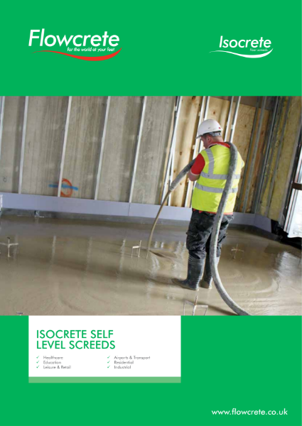 Isocrete Self Level Screeds