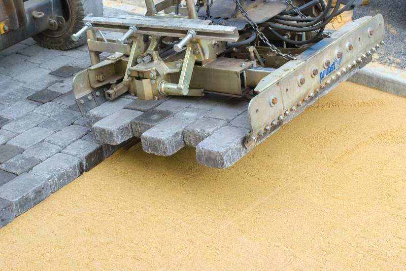 Alpha machine lay block paving provides a beautiful and speedy solution to a tight site programme.