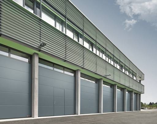 Sectional Door SPU 67 Thermo Wicket Door - Glazing Frames Track Type HU