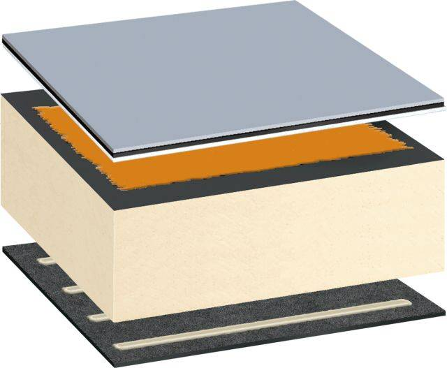 Bauder Thermoplan T Flexible Polyolefin Single Ply Warm Roof System Adhered or Mechanically Fixed