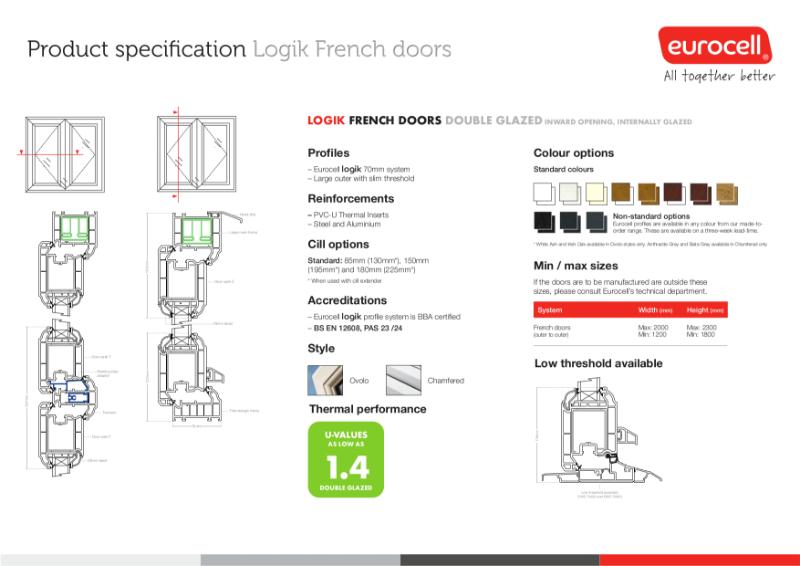 Logik French DG Slim Technical Data Sheet