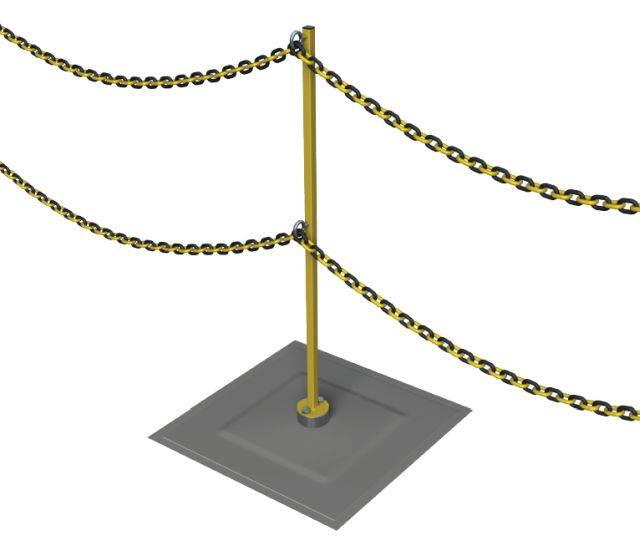 Rooftrak™ IFP-Zoning Post and Chain
