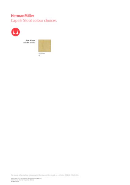 Capelli Stool - Product Sheet