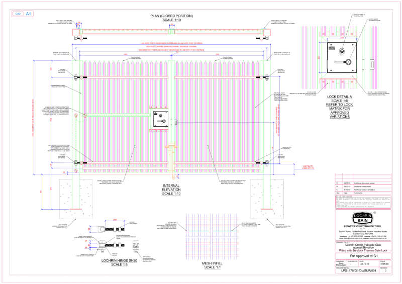Lochrin Combi G1 Technical Drawing