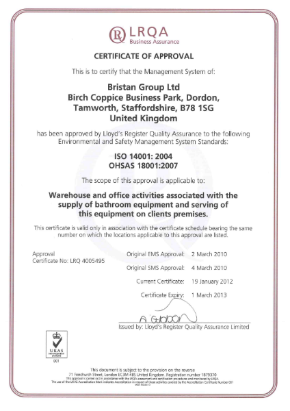 OHSAS 18001: 2007 and ISO 14001: 2004