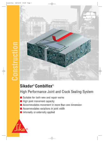 Sikadur Combiflex High Performance Joint and Crack Sealing System