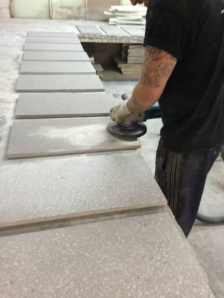 Diamond Polished Pre-cast Tile