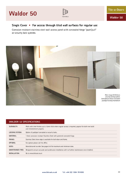 Waldor 50 Tiled Wall Access Panel
