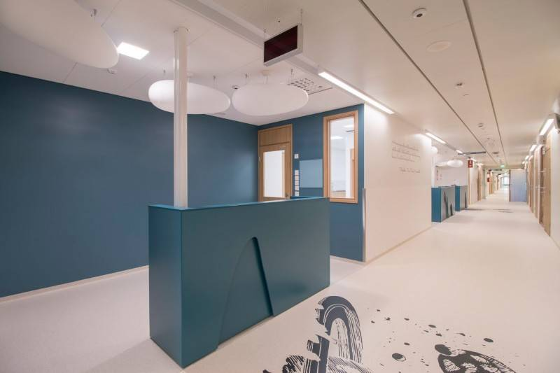 Tikkurila paints help keeping the New Children's Hospital hygienic and healthy