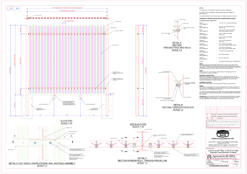Lochrin Combi SL2 Technical Drawing