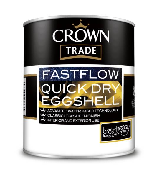 Crown Trade launches new Fastflow Quickdry Eggshell