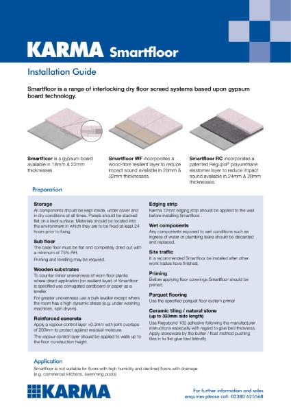 Karma Smartfloor Installation Guidelines