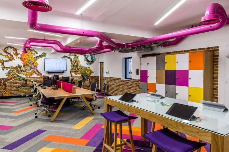 Bespoke Office Lighting Scheme. Money.co.uk, Cirencester.