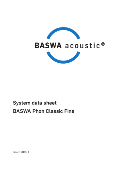 Smooth acoustic plaster ceiling - BASWA Phon Classic Fine