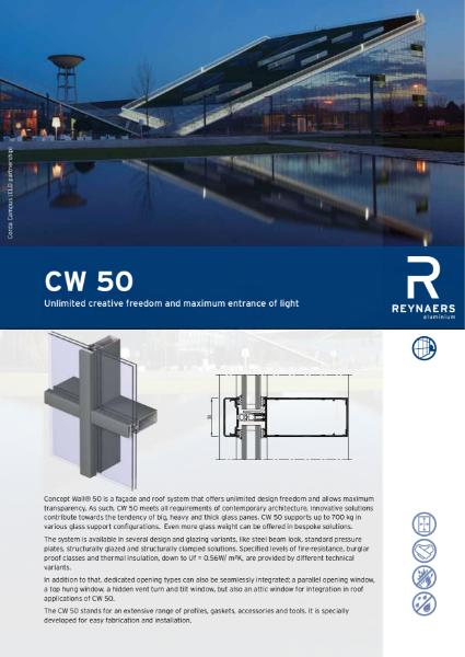 Aluminium Curtain Walling System - CW 50