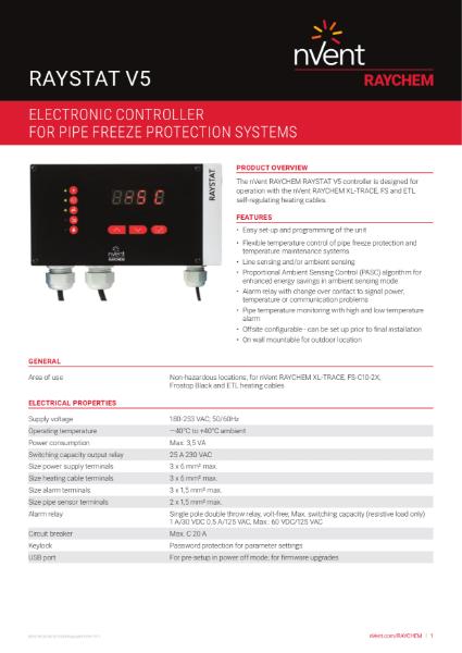 Control & Monitoring Systems - RAYSTAT V5
