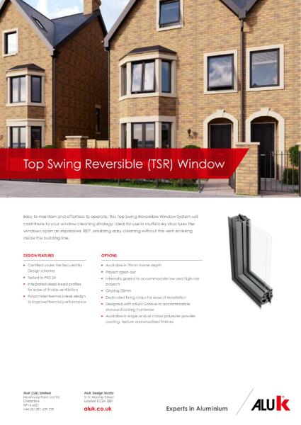 AluK Top Swing Reversible Window System Datasheet