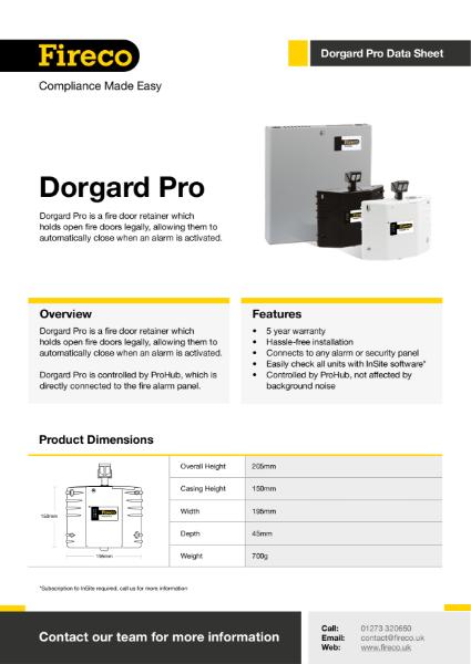 Dorgard Pro Technical Data Sheet