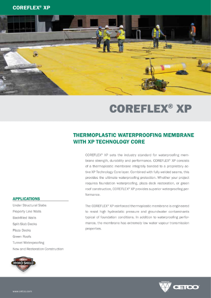 COREFLEX® XP - THERMOPLASTIC WATERPROOFING MEMBRANE WITH XP TECHNOLOGY CORE