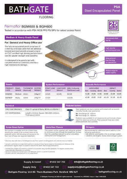 PSA BG Range Steel Encapsulated Panel