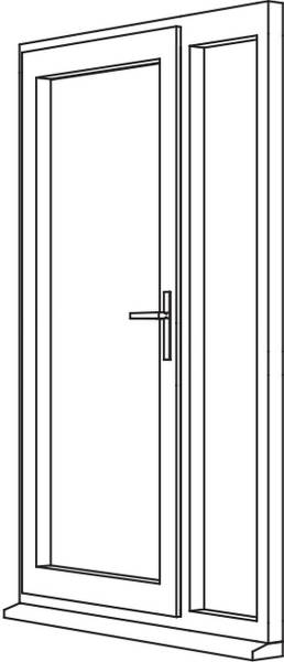 Traditional 2500 Residential Door - R4 Open Out