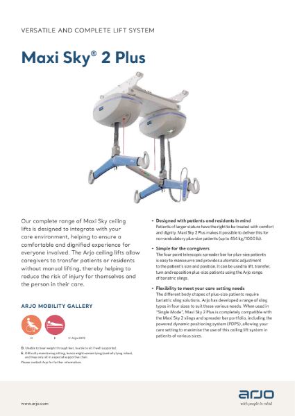 Arjo Bariatric Overhead Hoist - Maxi Sky 2 Plus