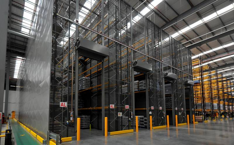 Steel and Mesh Partitioning at TJ Morris Automated Warehouse in Amesbury