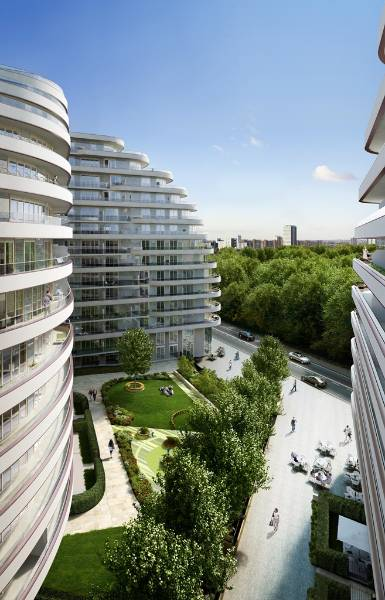 Prestigious Vista Luxury Apartments, London, featuring Reynaers aluminium sliding doors, curtain wall and windows