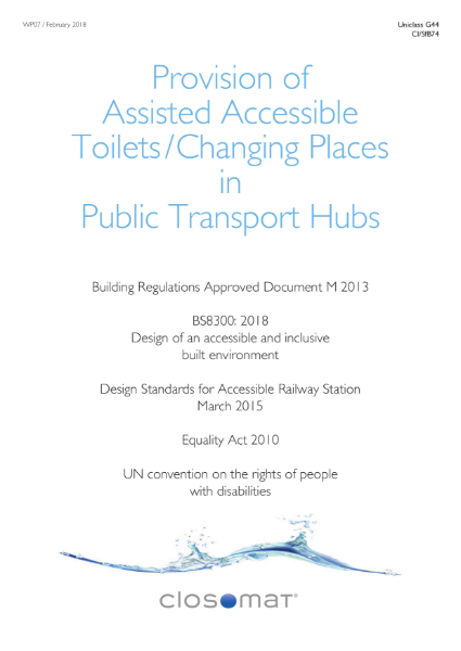 Provision of Accessible Toilets in Public Transport Sites
