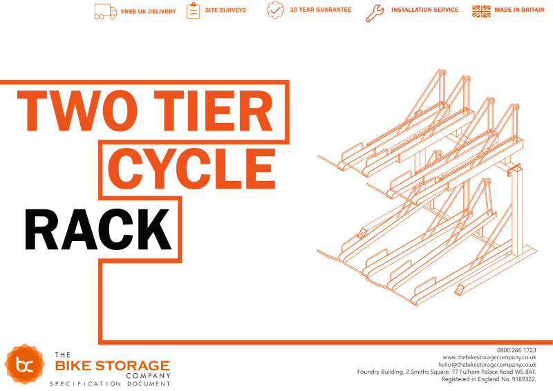 Bike Rack - Two Tier Cycle Rack Specification Document