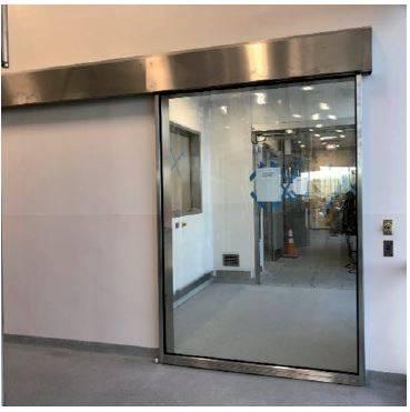 DT-A1 Hygieniglass surface sliding bi-parting door