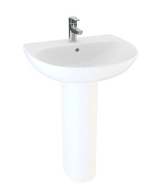 Designer Series 5 60 cm 1TH basin and pedestal