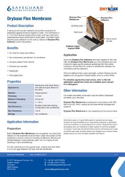 Drybase Flex Membrane Data Sheet